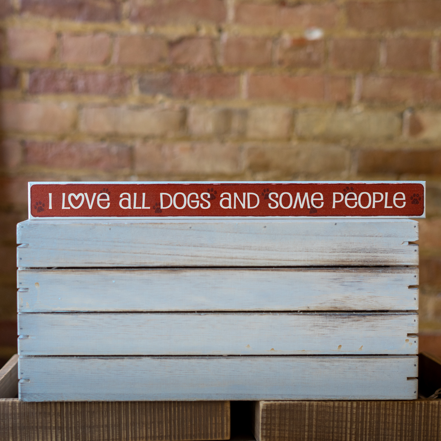 I Love All Dogs And Some People Sign